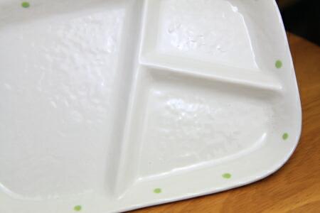 水玉ランチプレート(グリーン)