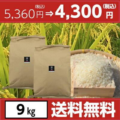 令和元年宮崎県産ヒノヒカリ9kg(4.5kg×2袋)
