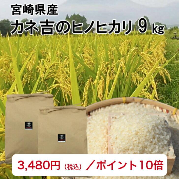 カネ吉のヒノヒカリ9kg最安値