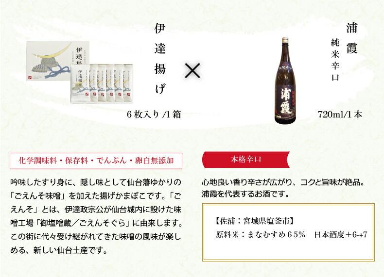 笹かまぼこ×宮城の地酒
