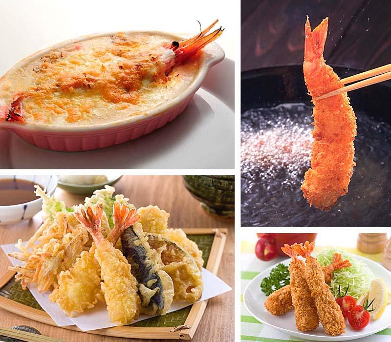 ボタンエビのお寿司・エビフライ・天ぷら