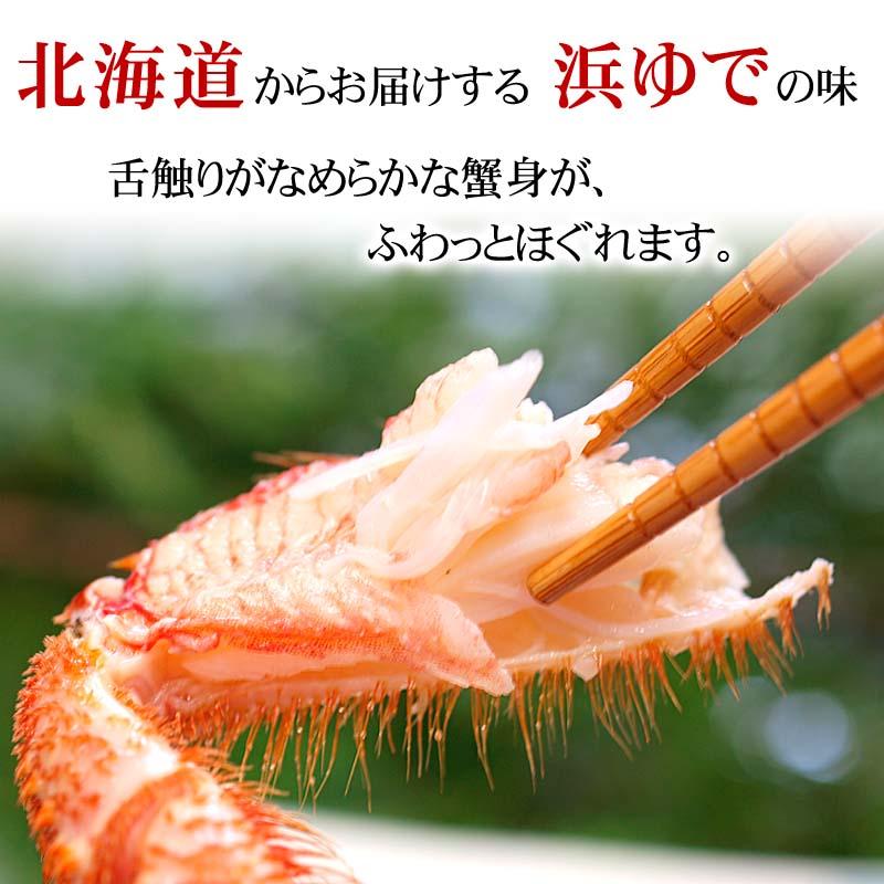 毛蟹、北海道から浜ゆででお届け