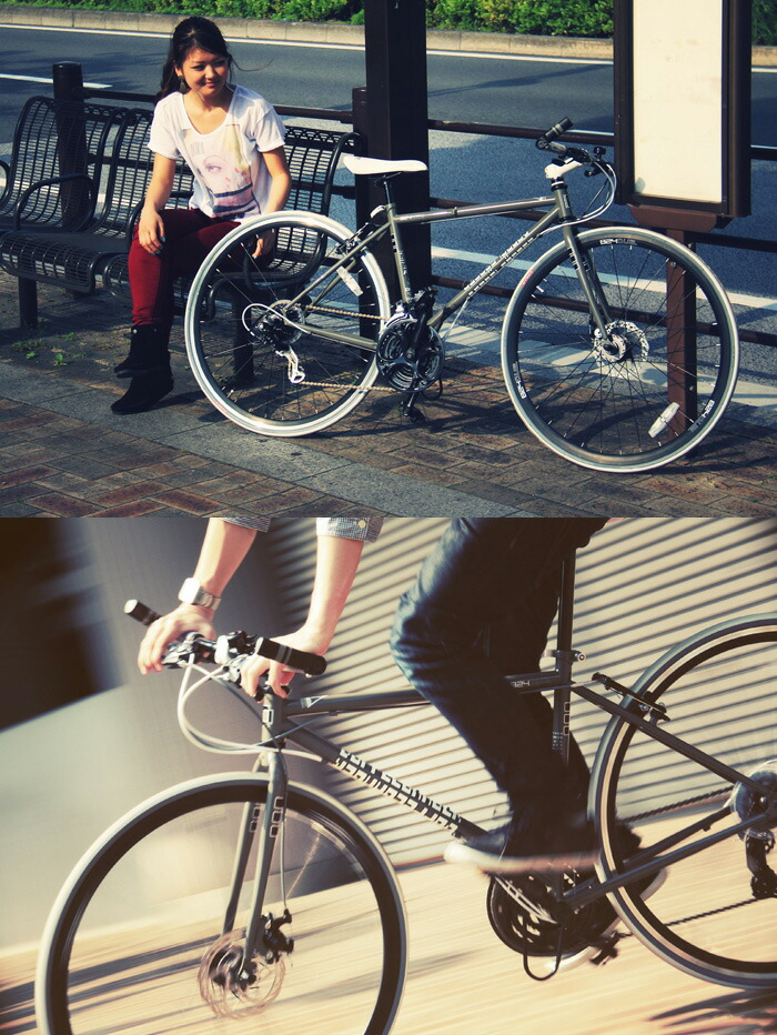700C クロスバイク 824 [ シマノ21段変速 ディスクブレーキ 自転車 折りたたみ自転車  ドッペルギャンガー DOPPELGANGER ]
