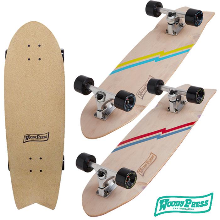 本店は WOODYPRESS スケートボード コンプリート スケボー 30インチ カービング サーフスケート