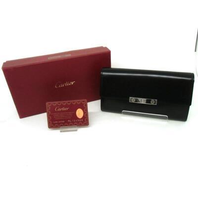 Cartier  【カルティエ】L3000742 ラブコレクション インターナショナル ウォレット ゴートスキンレザー/ブラック USED-A