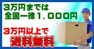 送料3万円で無料