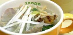 あさりと小松菜の食べちゃうスープ
