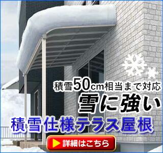 積雪用テラス屋根