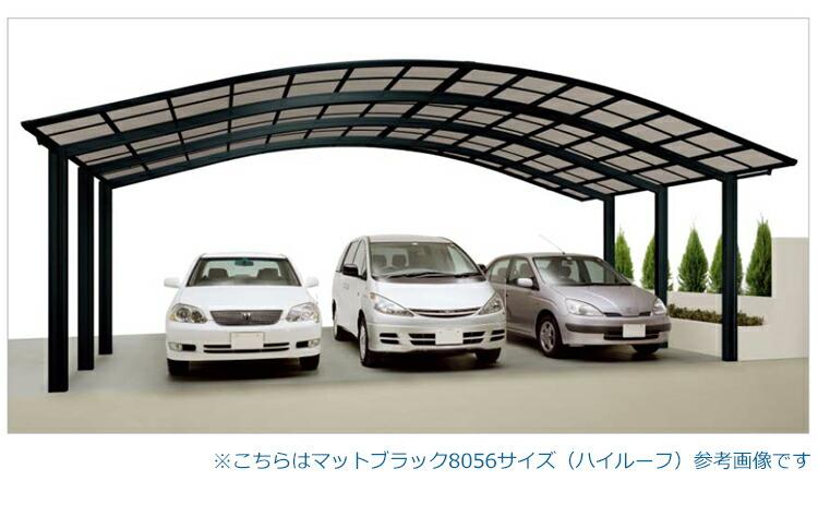 シンプルカーポート3台用
