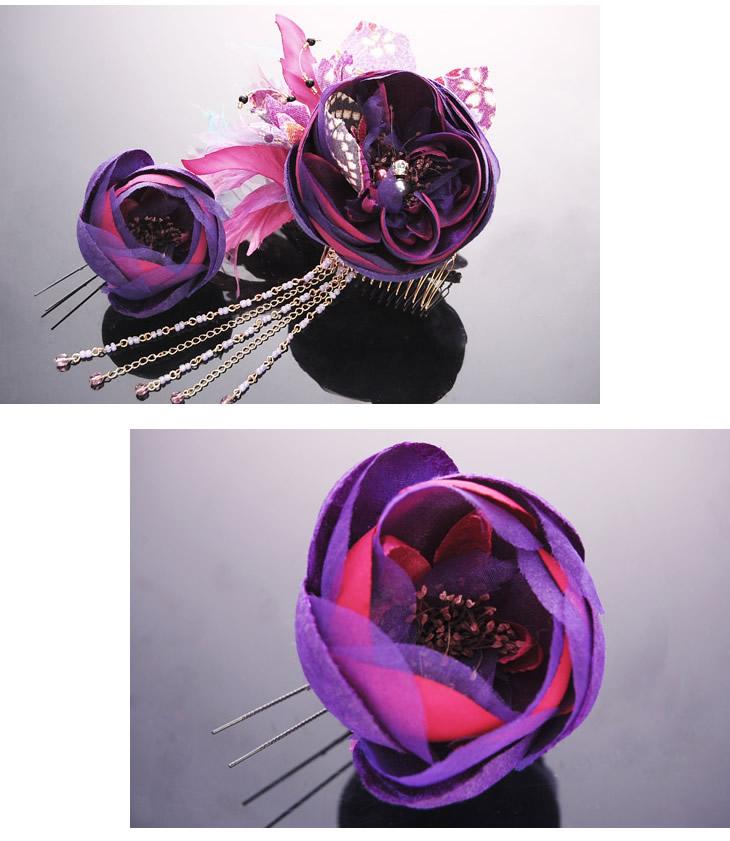 紫 ヴァイオレット 大輪 花