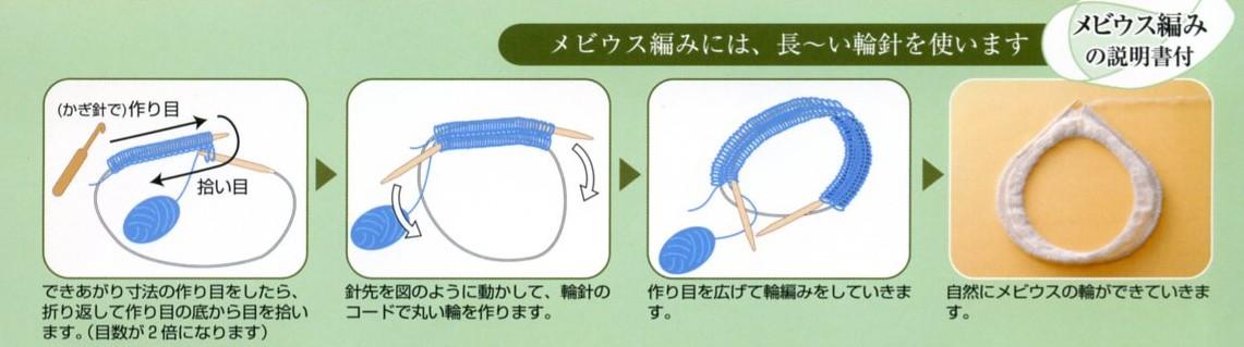 <メビウス編み>