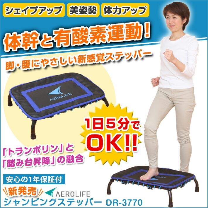体幹と有酸素運動!脚・腰にやさしい新感覚ステッパー