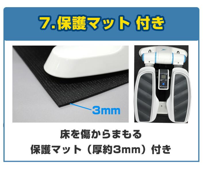 7.保護マット付き 床を傷からまもる保護マット(厚約3mm)付き