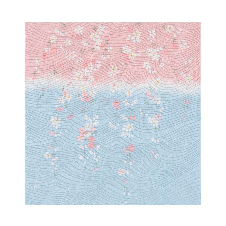 レーヨンの風呂敷 宇野千代の愛した桜の風呂敷 紅しだれ桜 45cm(さくら)