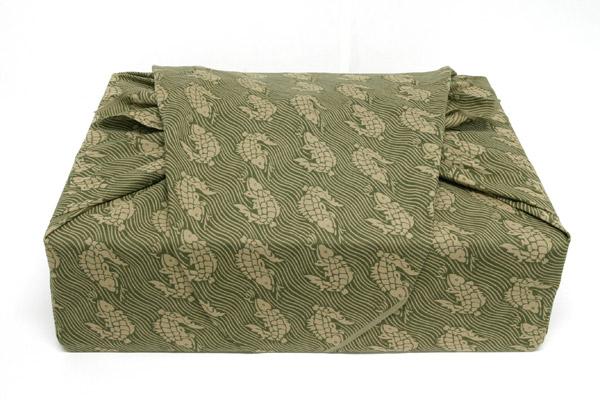 【送料無料+紙箱付】綿の風呂敷(ふろしき)荒磯 120cm