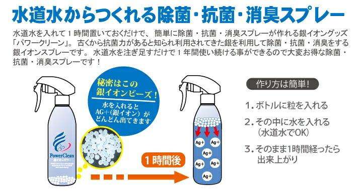 水道水から作られる除菌抗菌消臭スプレー
