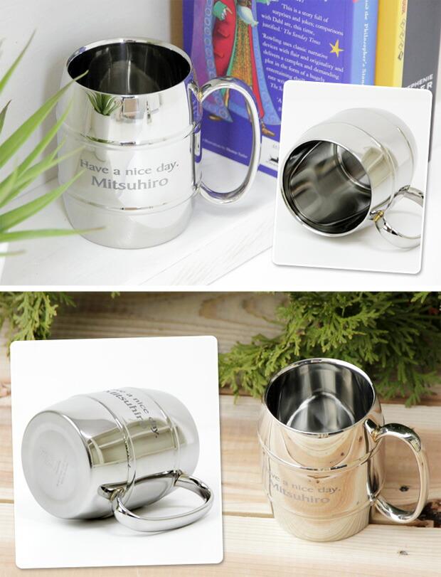 贈り物にタルマグ 名入れステンレス二重構造マグカップ