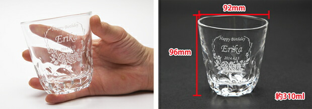 グラスのサイズ