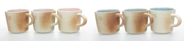 信楽焼 Cloverペアマグカップの特徴