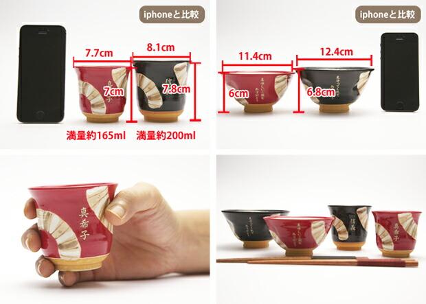 茶碗・湯呑のサイズ
