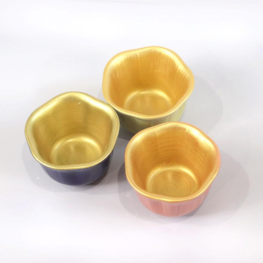 小鉢 内金彩花型小付 全3種