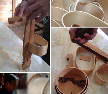 Handicraft of the music げわっぱ craftsman