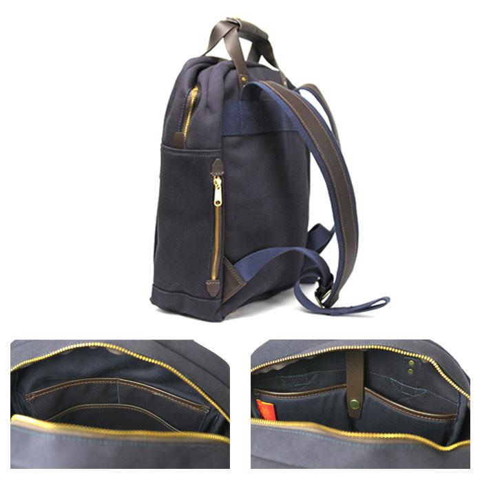 チャップマン リブルリュックサック メンズ バッグ 黒 ブラック 紺 ネイビー 2WAY 手持ちバッグ リュック バックパック イギリス製 キャンバス レザー 本革 CHAPMAN RIBBLE RUCKSACK BLACK NAVY 送料無料