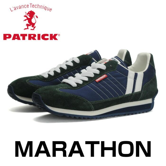 パトリック マラソン メンズ レディース スニーカー 日本製 シューズ ローカット ブルー ネイビー 男性 女性 PATRICK MARATHON NT.BU 94862 送料無料