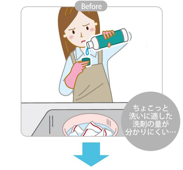 洗濯用洗剤 泡スプレー