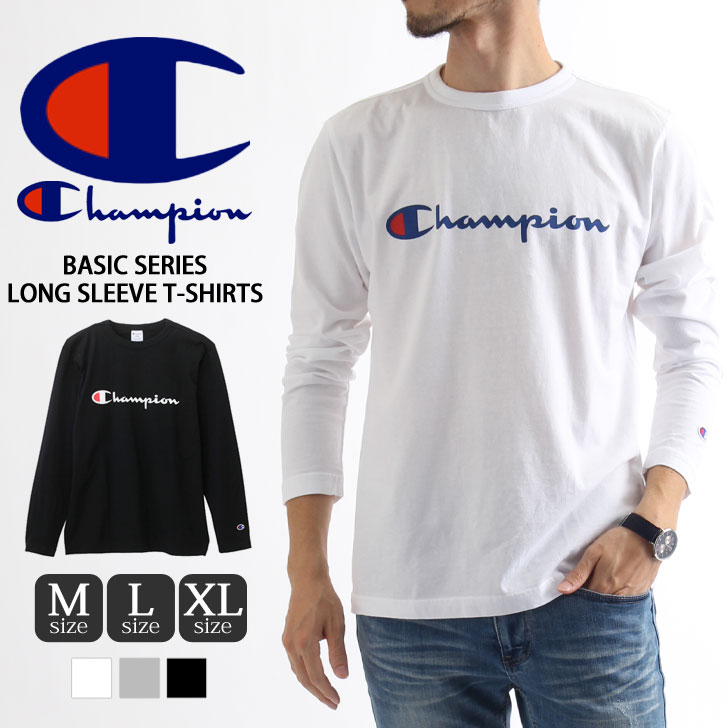 kawa  Champion Champion Basic Series long sleeve t-shirt C 3-J426 ... 1ffe170a74b9