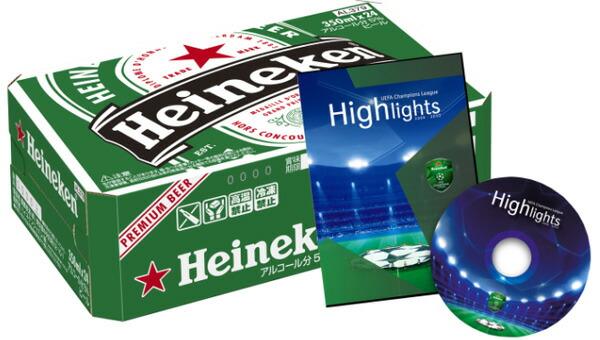 UEFAチャンピオンズリーグ2009/2010シーズンハイライトDVD(151分収録)付き ハイネケン 350ml×24缶