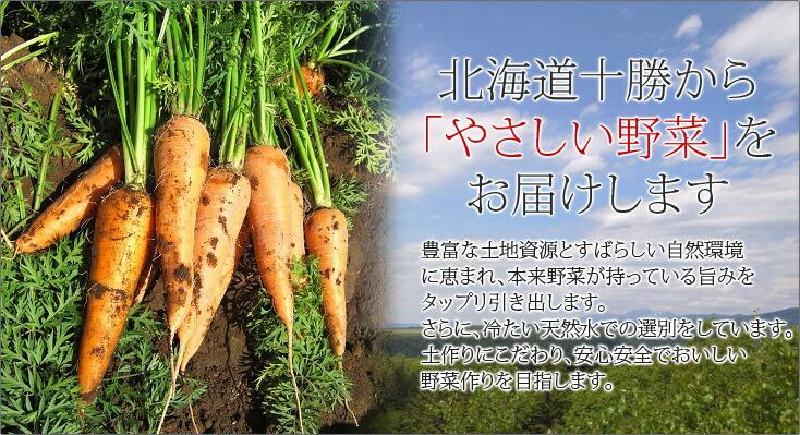 北海道十勝から「やさしい野菜」をお届けします