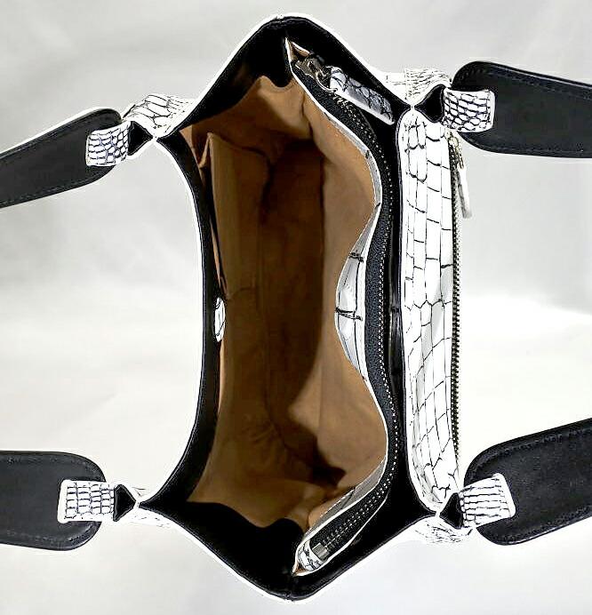 レディース メンズ バニラ クロコダイル ハンドバッグ tb17 本革 エキゾチックレザー