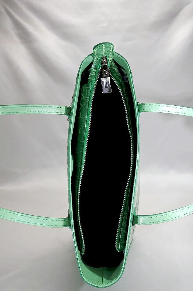 レディース メンズ シャイニング加工 クロコダイル ハンドバッグ トートバッグ tb19 本革 エキゾチックレザー