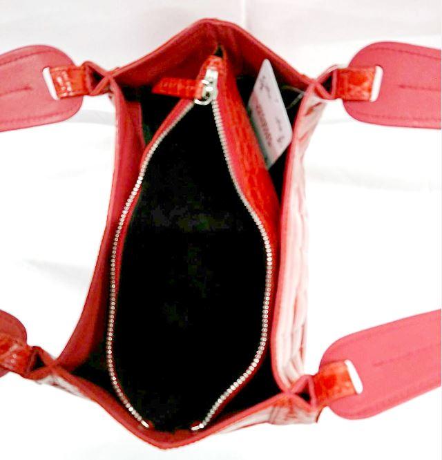レディース クロコダイル ハンドバッグ シャイニング加工 tb26 本革 エキゾチックレザー