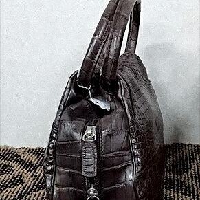 レディース クロコダイル ハンドバッグ tb27 本革 エキゾチックレザー