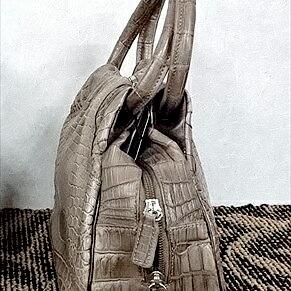 レディース クロコダイル ハンドバッグ tb28 本革 エキゾチックレザー