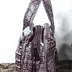 レディース クロコダイル ハンドバッグ tb29 本革 エキゾチックレザー