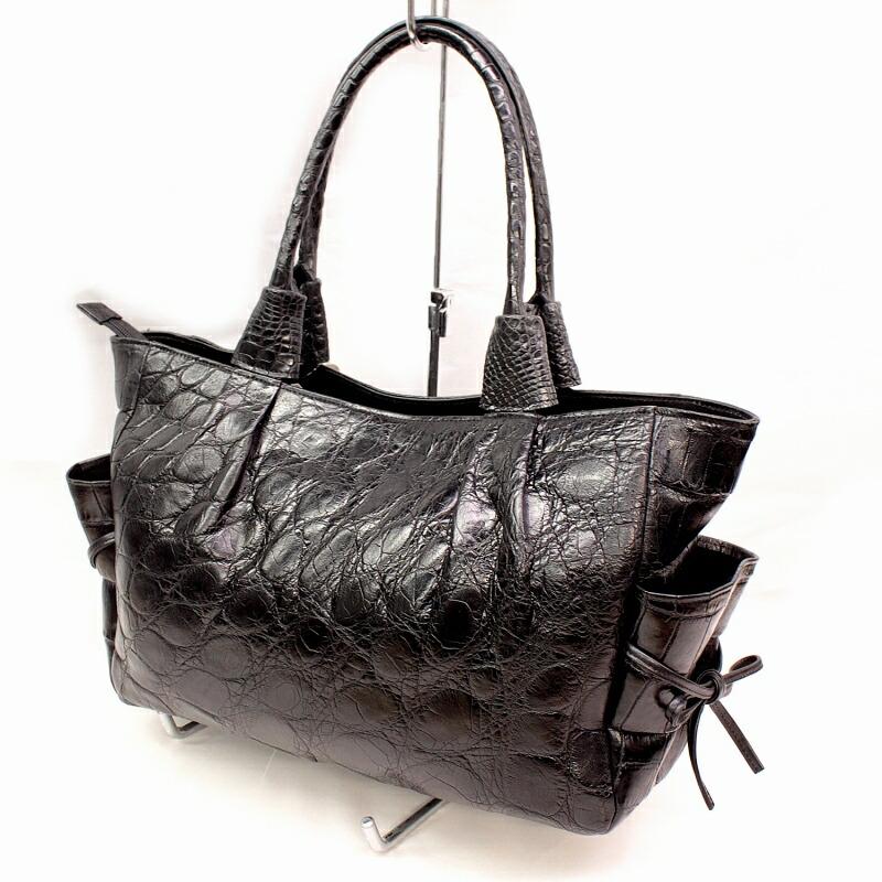 3D染め クロコダイル ハンドバッグ