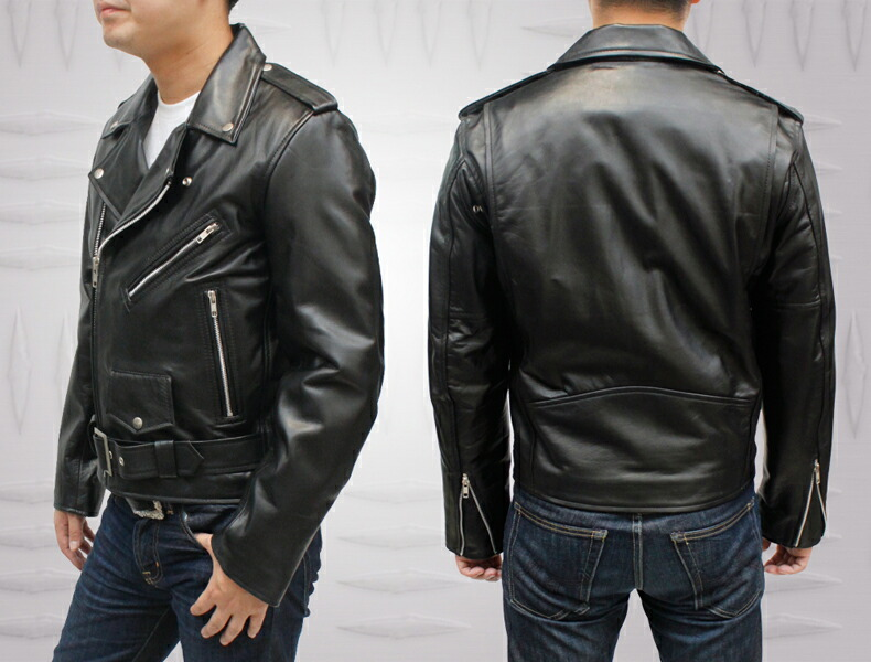 a795cabfd Men's double riders Leather Jacket(4717)