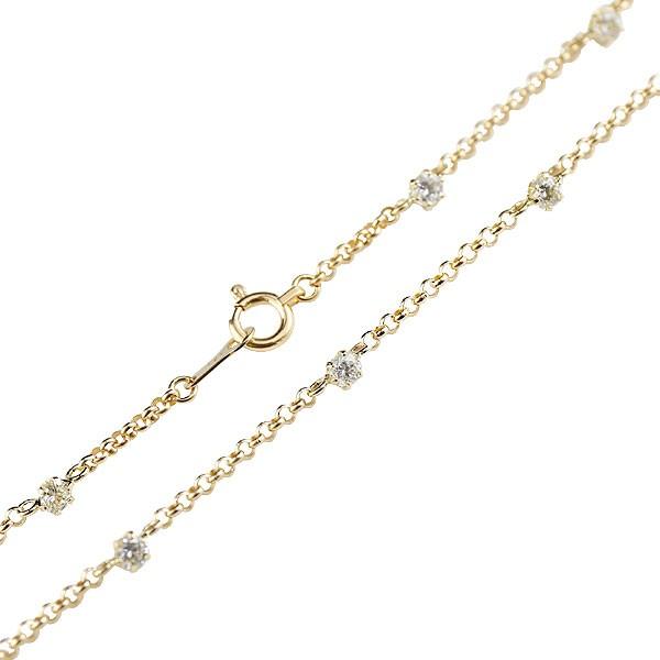 ダイヤモンドアンクレット:イエローゴールドk18:フルエタニティー:ダイヤモンド0.70ct