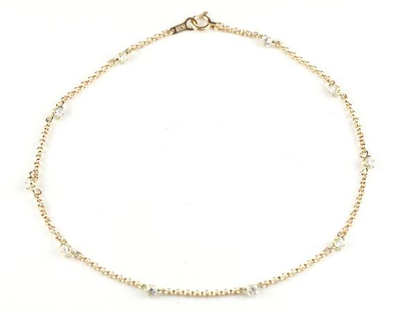 天然ダイヤモンド,k18,アンクレット