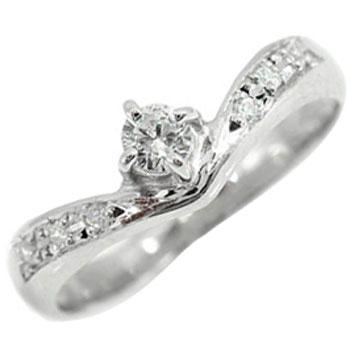ホワイトゴールドK18ダイヤモンドリング