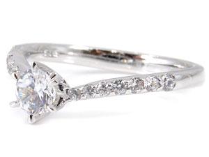K18WG指輪ダイヤモンド0.53ct