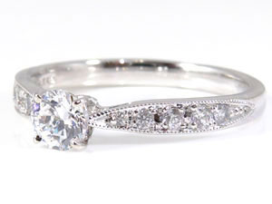 PT900指輪ダイヤモンド0.50ct