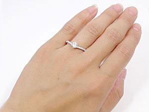 ホワイトゴールドK18大粒ダイヤモンドリング
