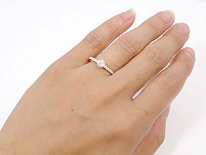 K18指輪ダイヤモンド0.48ct