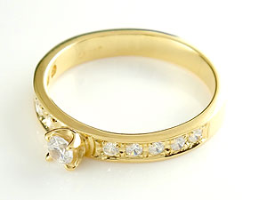 【送料無料】ダイヤモンドリング0.5ctプラチナ900指輪 小指用にも【工房直販】