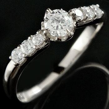 ダイヤモンド プラチナリング 婚約指輪 エンゲージリング