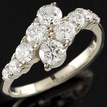 ダイヤモンド プラチナ リング 幅広 指輪